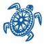 Stickers tortue tribal  Hawaii pour bateau