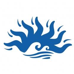 Stickers Soleil mer  tribal  Hawaii pour bateau