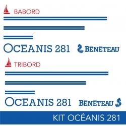 KIT Liseret OCEANIS 281 (Partie haute)