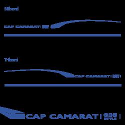 Stickers Cap Camarat 635 Style pour bateau