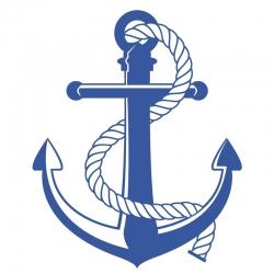Stickers Ancre Cordage pour bateau