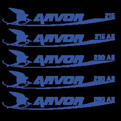 Stickers ARVOR 215 à 280AS (NEW) pour bateau