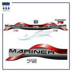 Stickers Mariner 75cv - Kit capot moteur pour bateau