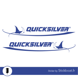 Stickers Quicksilver générique pour bateau