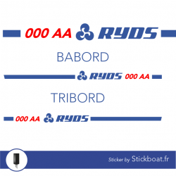 Stickers Kit liseret Ryds personnalisable pour bateau
