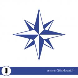 Stickers Jeanneau Rose des vents pour bateau