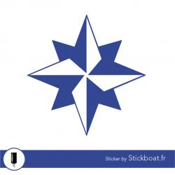 Stickers Jeanneau Rose des vents (ancienne) pour bateau