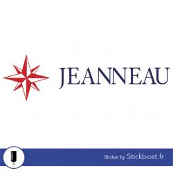 Stickers Jeanneau Ancien logo (2 couleurs) pour bateau