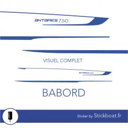 Stickers Kit déco ANTARES 750 HB pour bateau