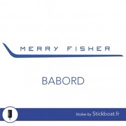 Stickers Jeanneau Merry Fisher Marlin 755 (complet) pour bateau