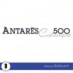 Stickers Bénéteau Antares 500 Calanque pour bateau