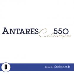 Stickers Bénéteau Antares 550 Calanque pour bateau