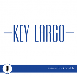 Stickers Logo Key Largo (sessa marine) pour bateau