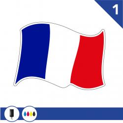 Stickers Drapeau Français 1 pour bateau