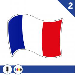 Stickers Drapeau Français 2 pour bateau