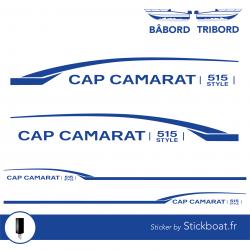 Stickers CAP CAMARAT 515 Style pour bateau