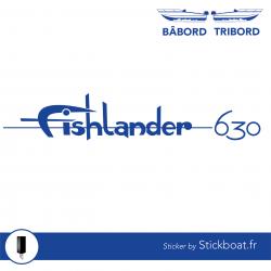 Stickers Fishlander 630 pour bateau
