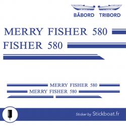 Stickers Liseret Merry Fisher 580 pour bateau