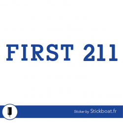 Stickers First 211 pour bateau