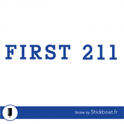 Stickers First 211 classic pour bateau