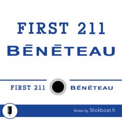 Stickers First 211 Bénéteau complet pour bateau