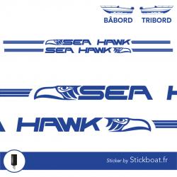 Stickers Sea Hawk 216 partie basse  pour bateau