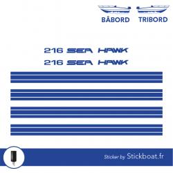 Stickers Sea Hawk 216 partie haute pour bateau