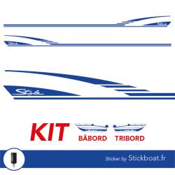 Stickers CAP CAMARAT 550 Style pour bateau