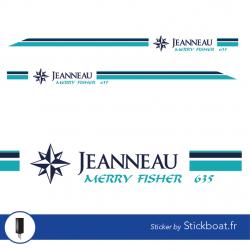 Stickers Liseret Merry Fisher 635 bleu pour bateau