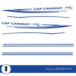 Stickers Cap Camarat 635 DC pour bateau