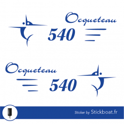 Stickers Ocqueteau 540 (kit) pour bateau