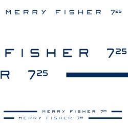 Stickers Liseret Merry Fisher 725 BLANC (destockage) pour bateau