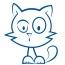 Stickers Chat silhouette 2 pour bateau