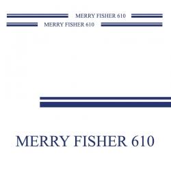 Stickers Liseret Merry Fisher 610 pour bateau